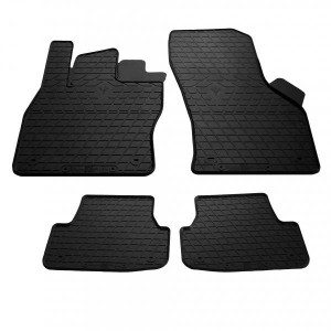 Комплект резиновых ковриков в салон автомобиля Seat Leon 2012- (design 2016) (1024344)