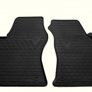 Передние автомобильные резиновые коврики AUDI A6 (C5) 1997- (design 2016) (1030232)
