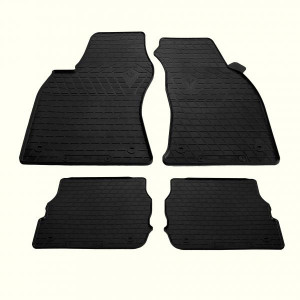 Комплект резиновых ковриков в салон автомобиля AUDI A6 (C5) 1997- (design 2016) (1030234)