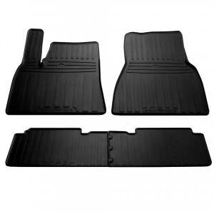 Комплект резиновых ковриков в салон автомобиля Tesla Model S 2012- (1050014)