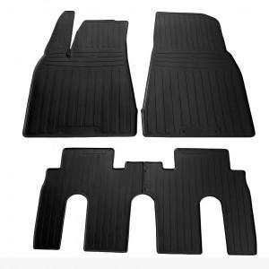 Комплект резиновых ковриков в салон автомобиля Tesla Model X 2015- (special design 2017) - 4 шт (1050024)