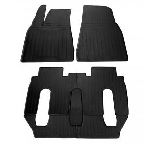 Комплект резиновых ковриков в салон автомобиля Tesla Model X (6 seats) 2015- (1050027)
