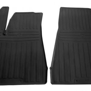 Передние автомобильные резиновые коврики Tesla Model X 2015- (special design 2017) (1050022)