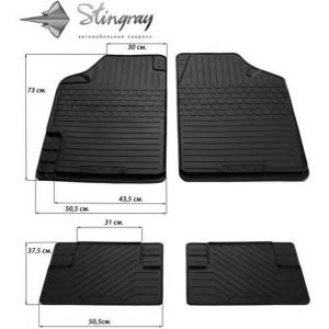 Комплект универсальных резиновых ковриков в салон автомобиля Variant II (1023074)