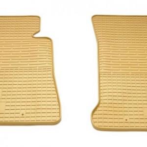 Передние автомобильные резиновые коврики BMW 3 (F30/F31/F34) 2011-2019 бежевые (2027132)