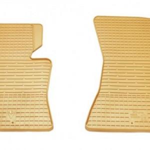 Передние автомобильные резиновые коврики BMW X6 F16 бежевые (2027122)