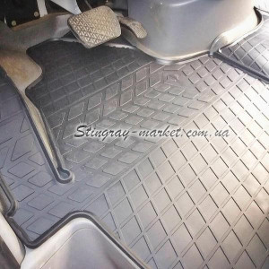 Водительский резиновый коврик Mercedes Benz W906 Sprinter II (1+1) 2006- (1012323 ПЛ)