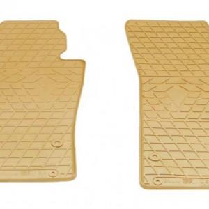 Передние автомобильные резиновые коврики Volkswagen Passat B7 2011- бежевые (2024162)