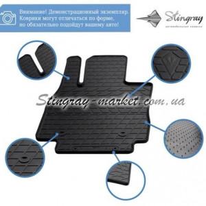 Комплект резиновых ковриков в салон автомобиля Jeep Compass ІI 2016- (1046134)