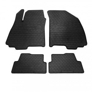 Комплект резиновых ковриков в салон автомобиля Chevrolet Aveo (T300) 11- (design 2016) (1002044)