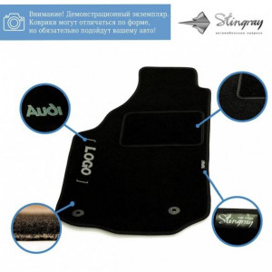 Комплект текстильных ковриков Stingray Ciak Black в салон автомобиля TOYOTA / AURIS HB / 2007-2012 (41122325)