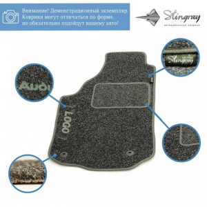 Комплект текстильных ковриков Stingray Ciak Black/Grey в салон автомобиля RENAULT/ MEGANE III / SW МКП 5 дв. / 2009 (41218225)
