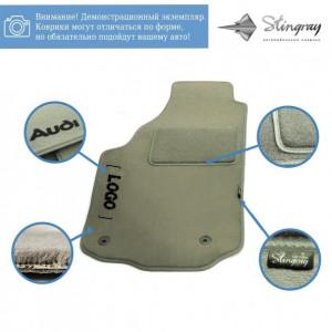 Комплект ворсовых ковриков Stingray Fortuna Grey в салон автомобиля Audi / А4 (В-6/В-7) (МКП) SD /2000-2008 (42330065)