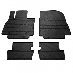 Комплект резиновых ковриков в салон автомобиля Mazda 2 (DJ) 2014- (1011084)