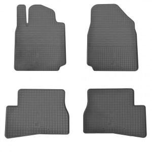 Комплект резиновых ковриков в салон автомобиля Nissan Micra K12 2013- (1014144)