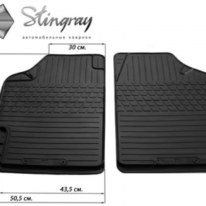 Передние автомобильные универсальные резиновые коврики Variant II (1023072)