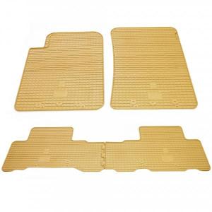 Комплект резиновых ковриков в салон автомобиля Ssang Yong Rexton W 2013- бежевые (2019024)