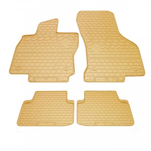 Комплект резиновых ковриков в салон автомобиля Volkswagen Passat B8 бежевые (2024174)