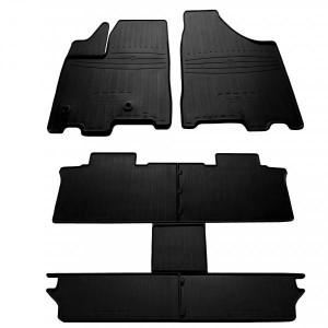 Комплект резиновых ковриков в салон автомобиля Toyota Sienna III 2010- (7м) (1022527)