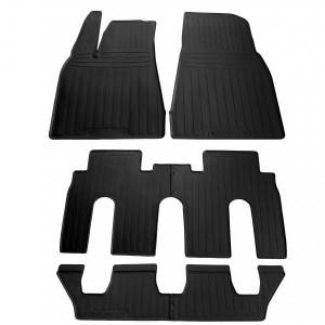 Комплект резиновых ковриков в салон автомобиля Tesla Model X (7 seats) 2015- (special design 2017) (1050026)