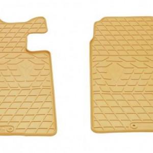 Передние автомобильные резиновые коврики Mazda CX7 бежевые (2011052)