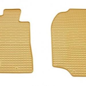 Передние автомобильные резиновые коврики Toyota Land Cruiser 100 1998- бежевые (2022072)