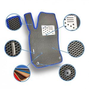 Комплект ковриков Eva в салон автомобиля Citroen C-Сrosser 2007-2013 (1013135Е)