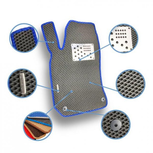 Комплект ковриков Eva в салон автомобиля Infiniti QX80 2013- (1014195Е)