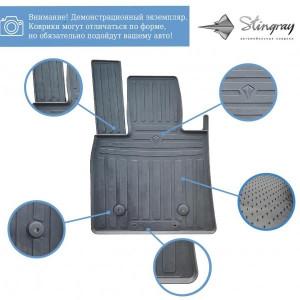 Комплект резиновых ковриков в салон автомобиля Hyundai Elantra (CN7) 2020- (1009384)